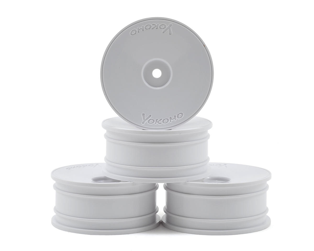 Yokomo 12mm Hex Precision 1/10 Touring Car Wheels (Medium Narrow) (4) (White)