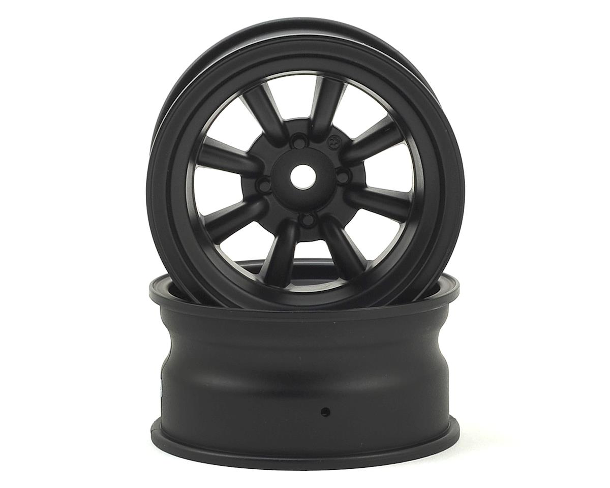 Yokomo 12mm Hex RS WATANABE 8-Spoke Drift Wheels (Black) (2)
