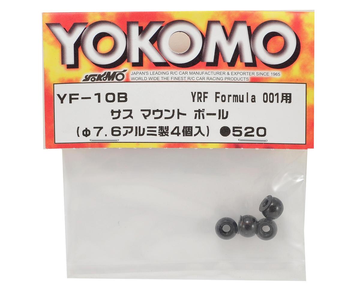 Yokomo 7.6mm Aluminum Suspension Mount Pivot Ball (4)