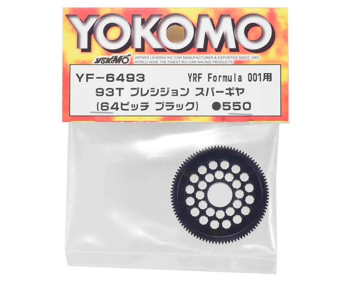 Yokomo 64P Precision Spur Gear (Black) (93T) (Formula 001)