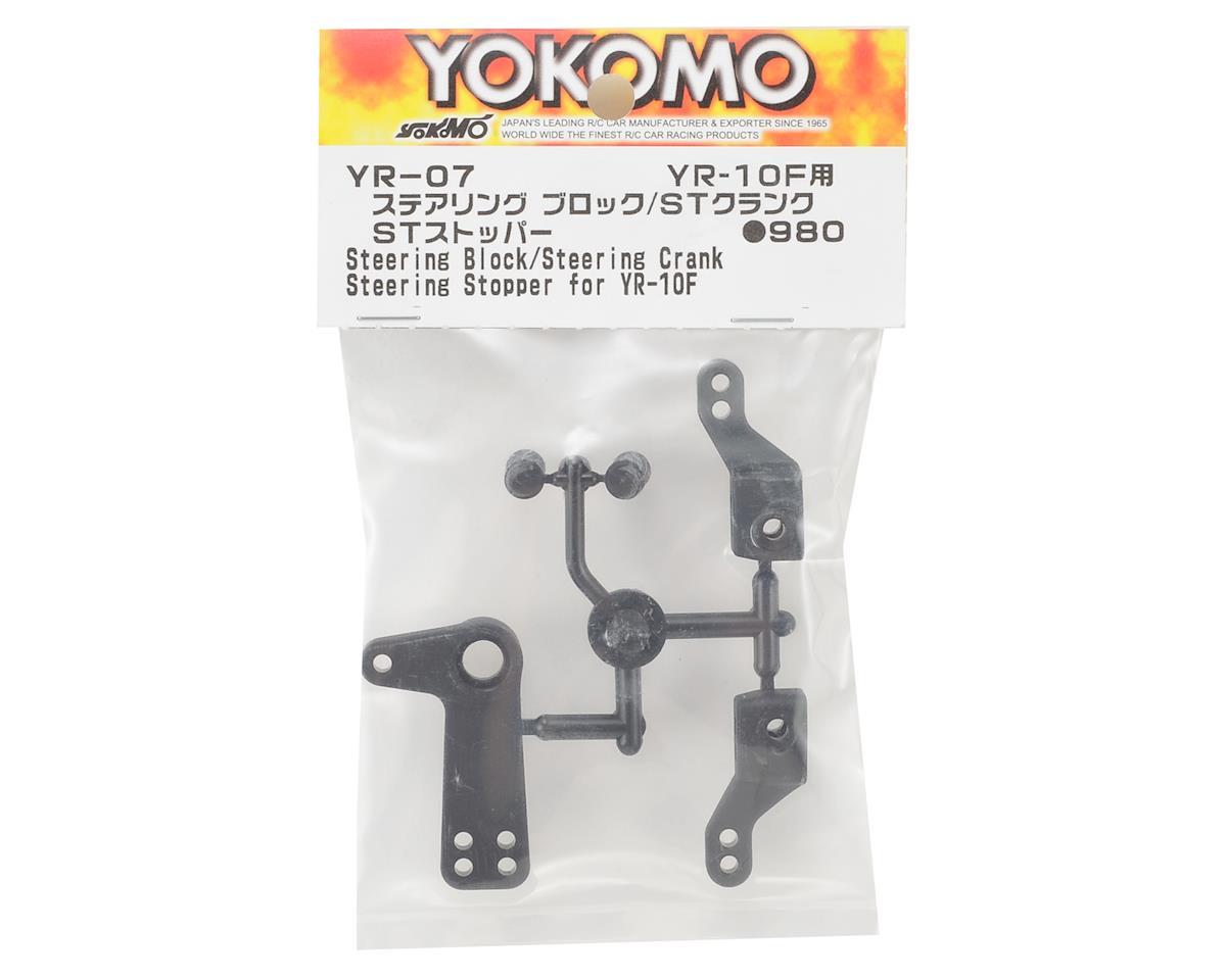 Yokomo YR10 Steering Block, Crank & Stopper Set