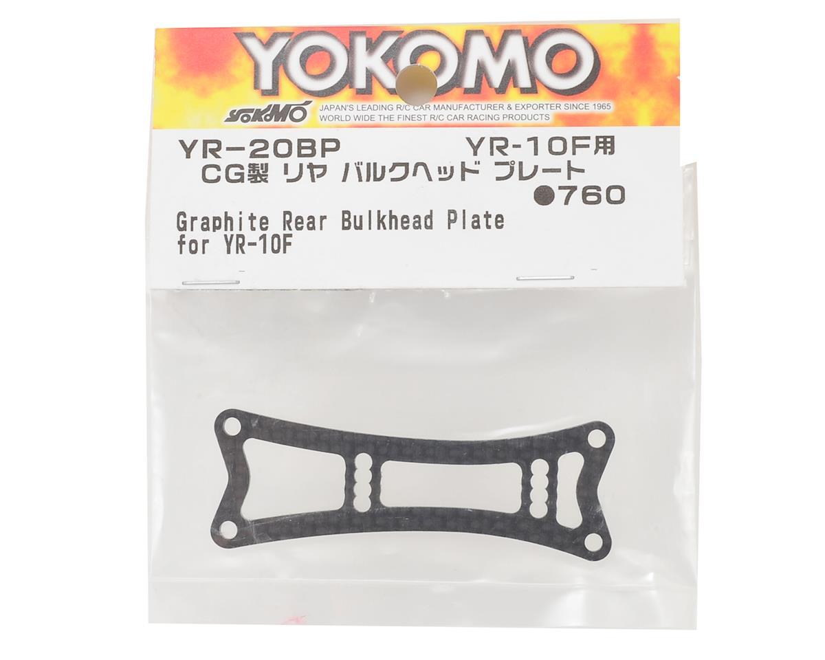 Yokomo YR10 Graphite Rear Bulkhead Plate