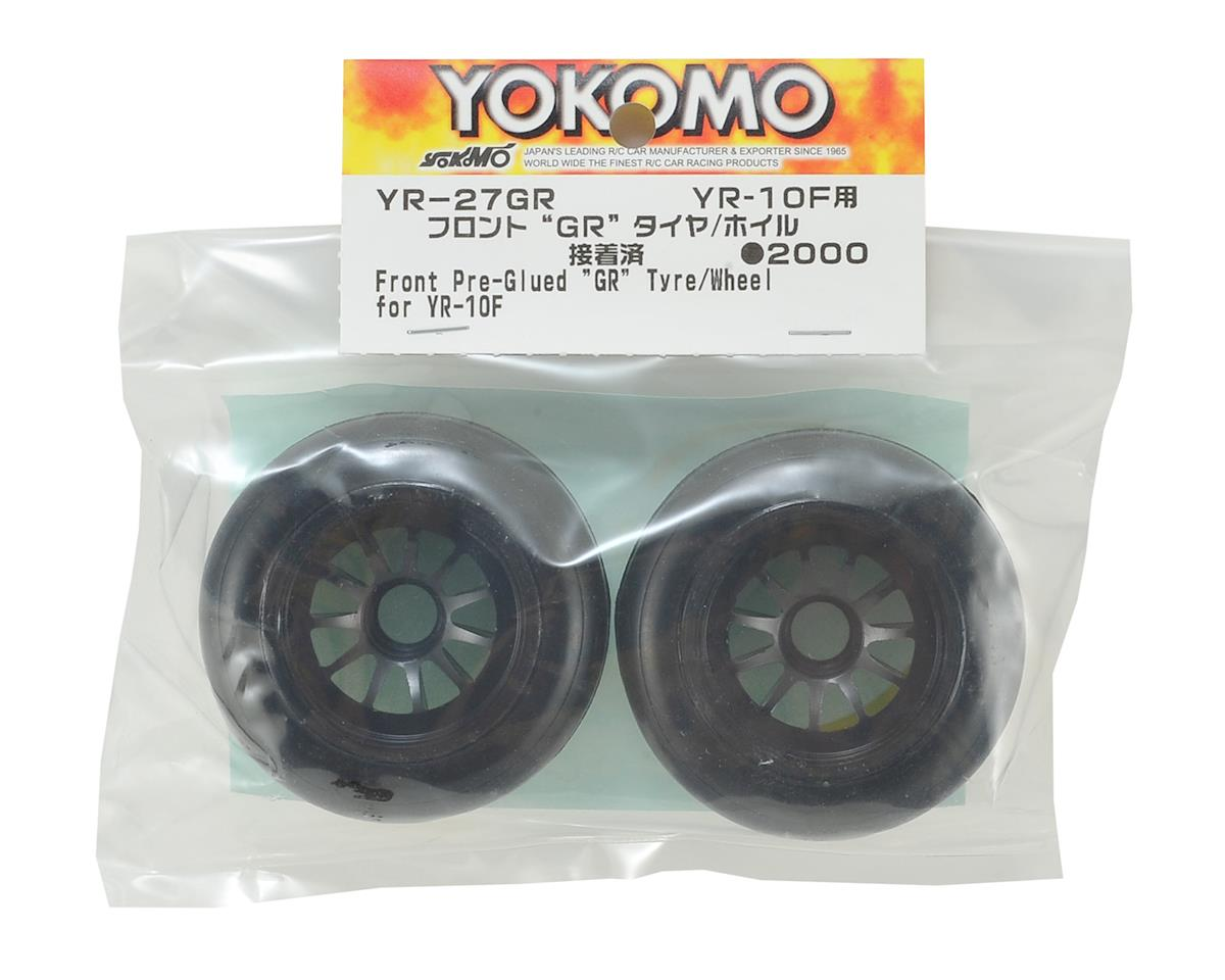 Yokomo YR10 Pre-Glued Front GR Ride F1 Tire (2)
