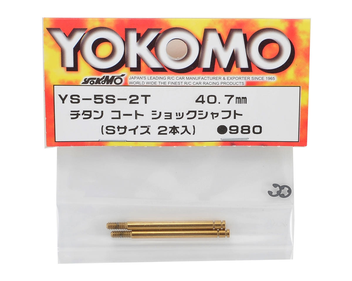 Yokomo 40.7mm Titanium Coated Short Shock Shaft (2)