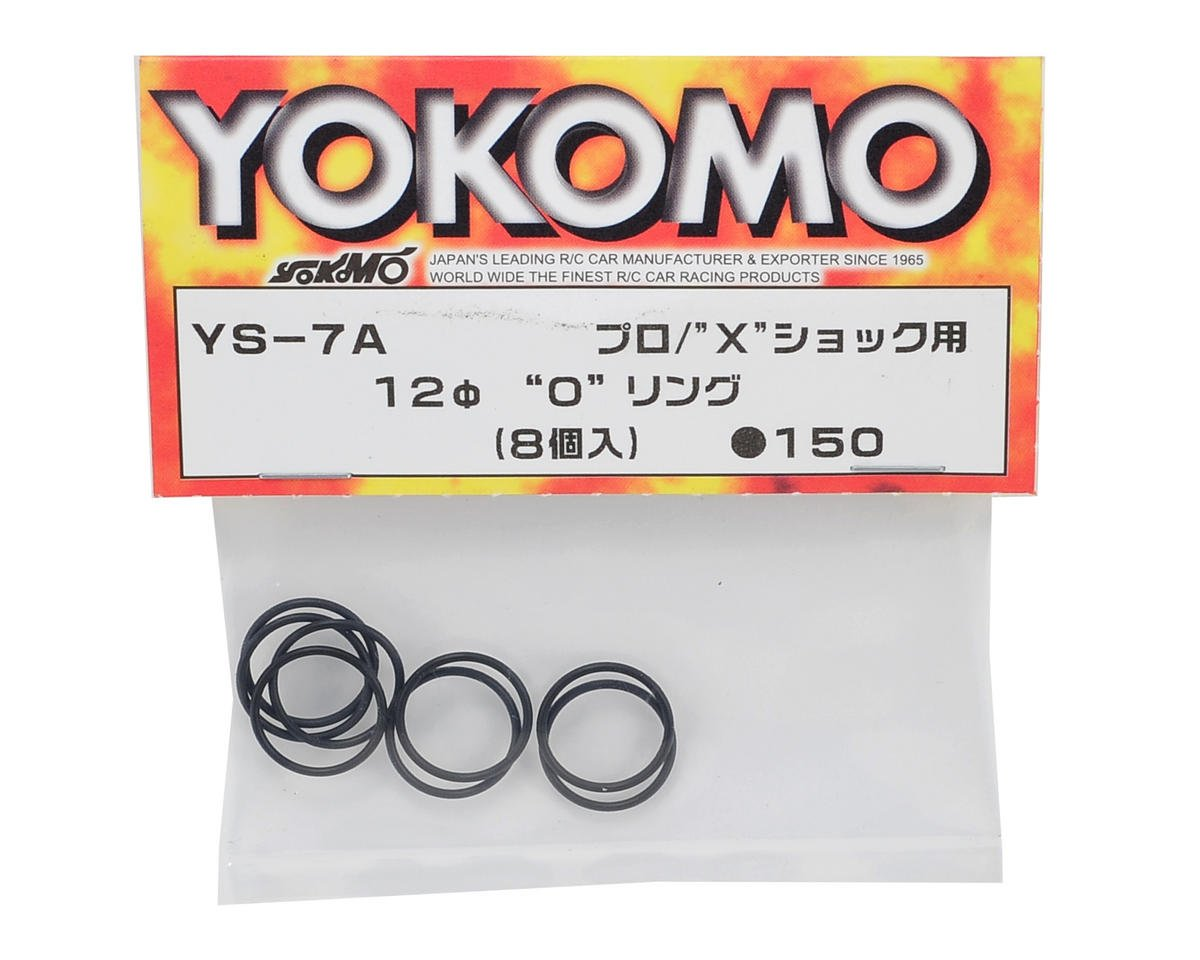 Yokomo LF Pro Shock Nut O-Ring Set (8)