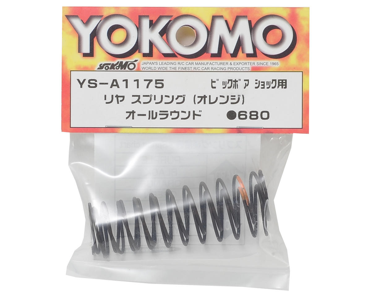 Big Bore Rear Shock Spring Set (Orange) by Yokomo