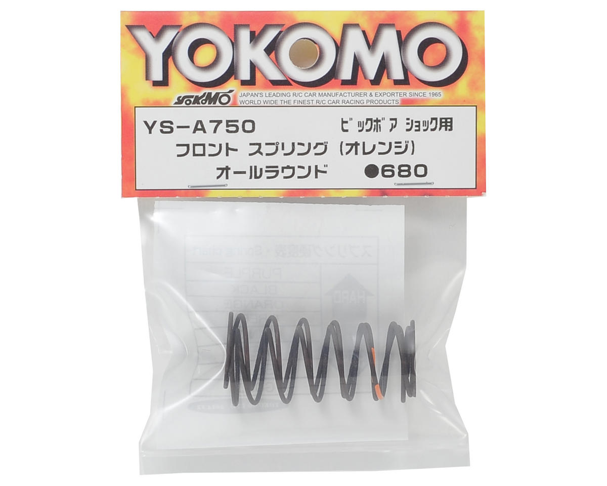 Yokomo Big Bore Front Shock Spring Set (Orange)