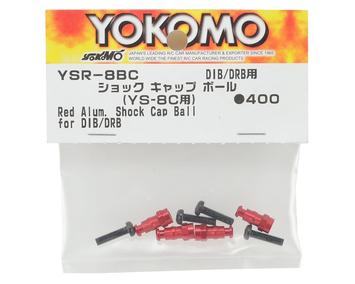 Yokomo Aluminum Shock Cap Ball (Red) (4)