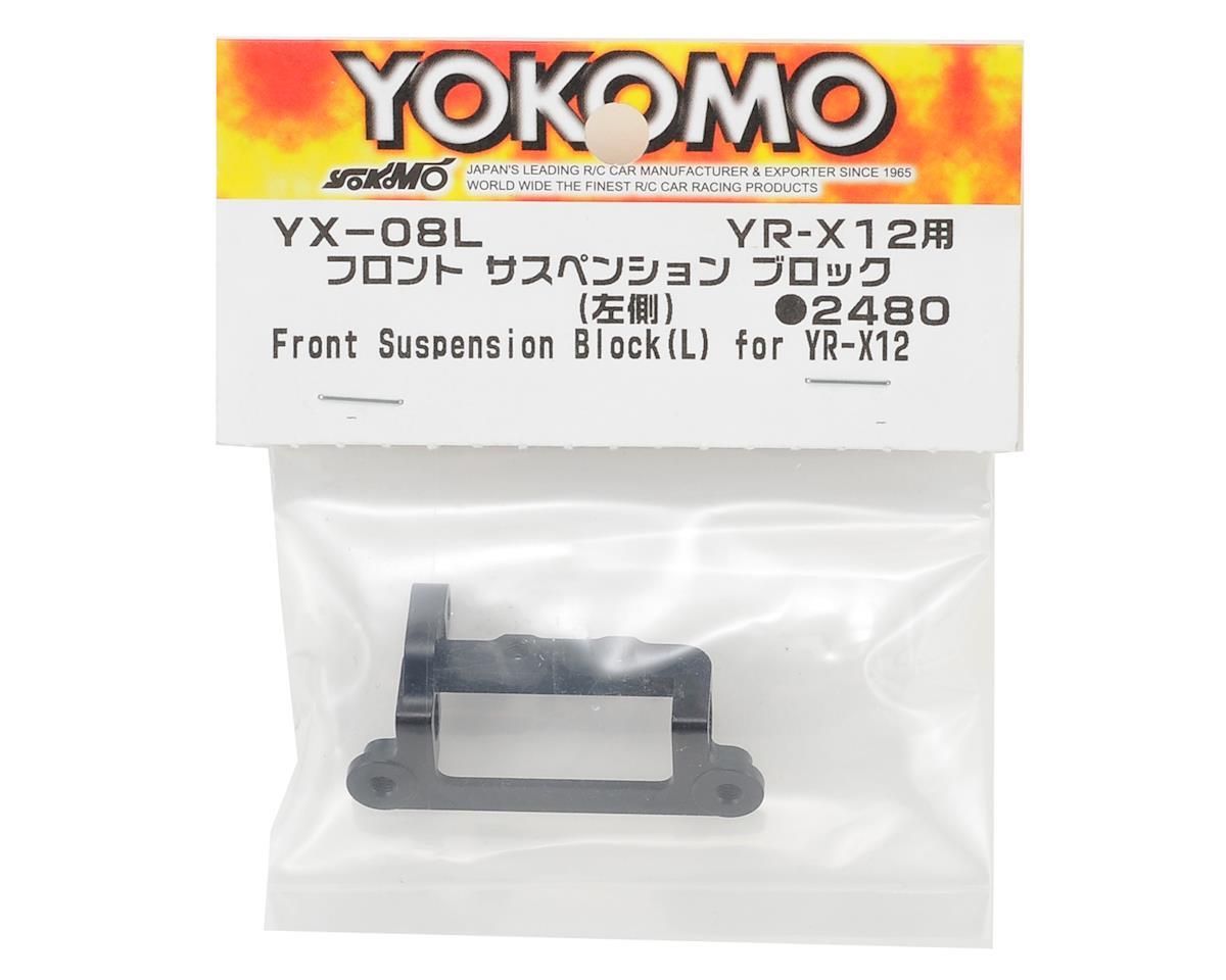 Yokomo YR-X12 Aluminum Front Suspension Block (Left)