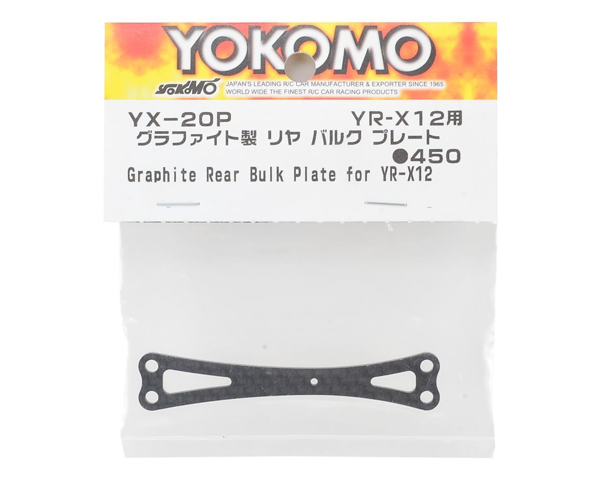 Yokomo YR-X12 Carbon Fiber Rear Bulk Head Plate