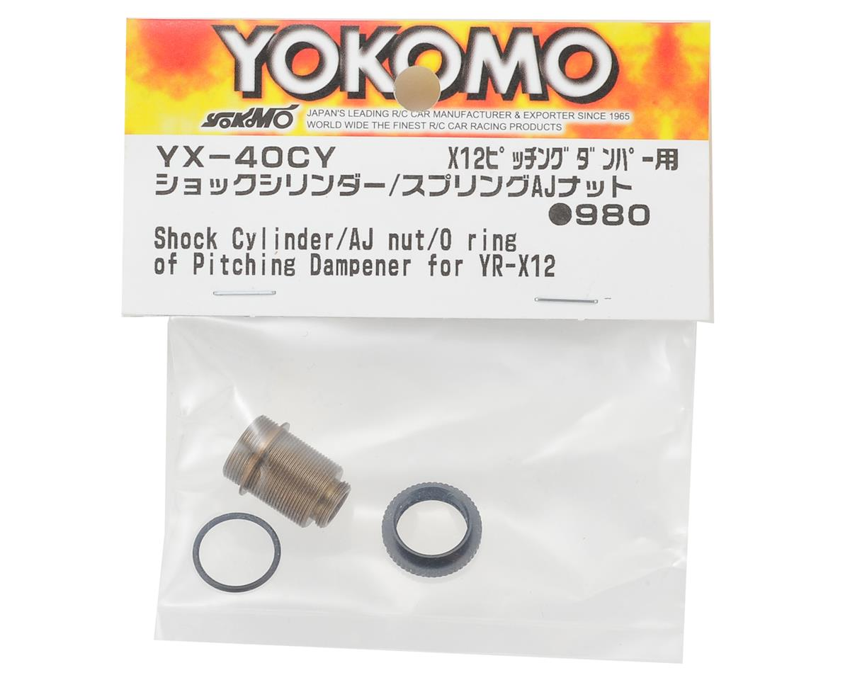Yokomo YR-X12 Pitching Damper Body & Spring Collar Set