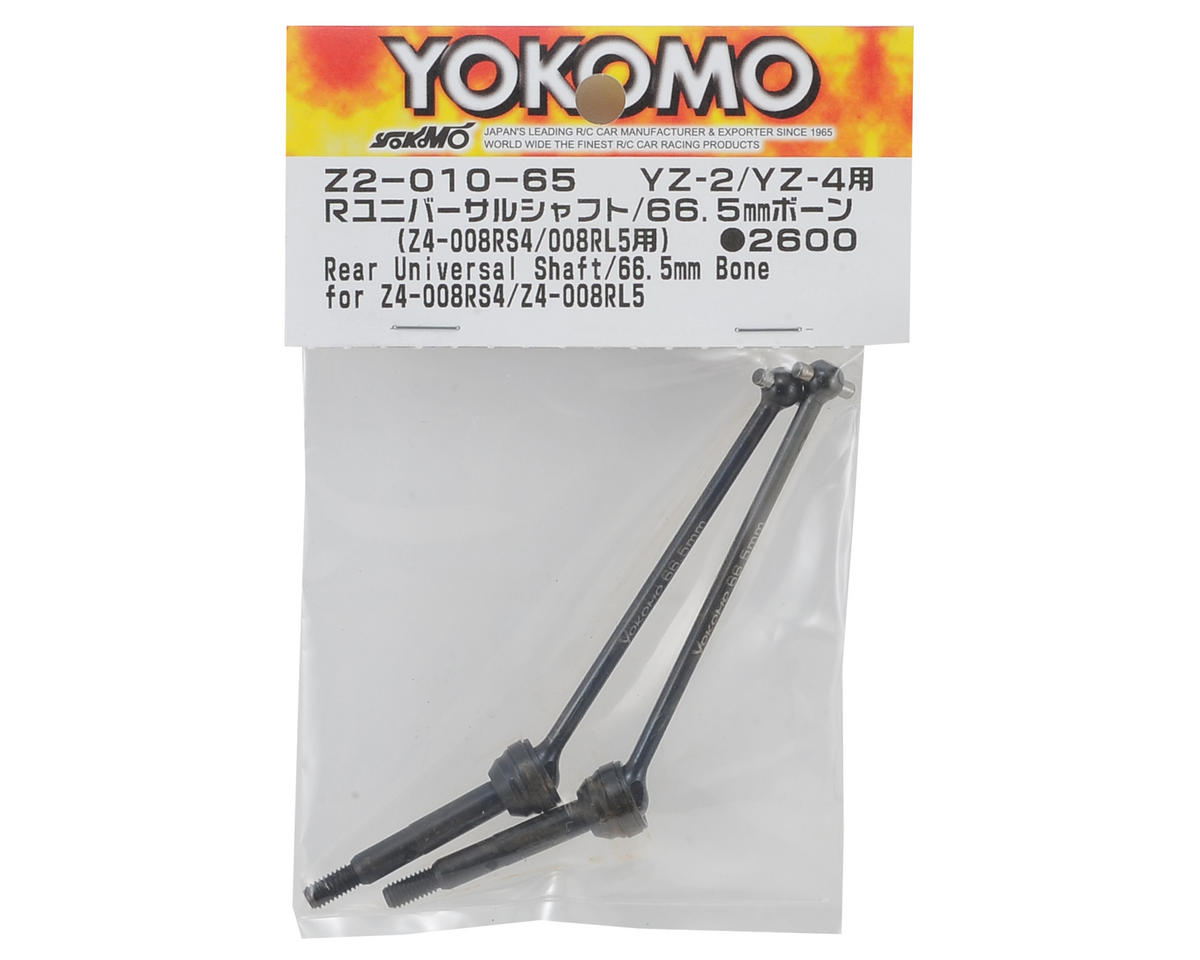 Yokomo Universal Driveshaft (2) (66.5mm) (use with offset rear hubs)
