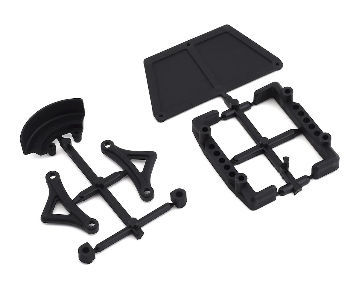 Yokomo YZ-2T Battery Holder, Radio Tray & Spur Gear Cover Set