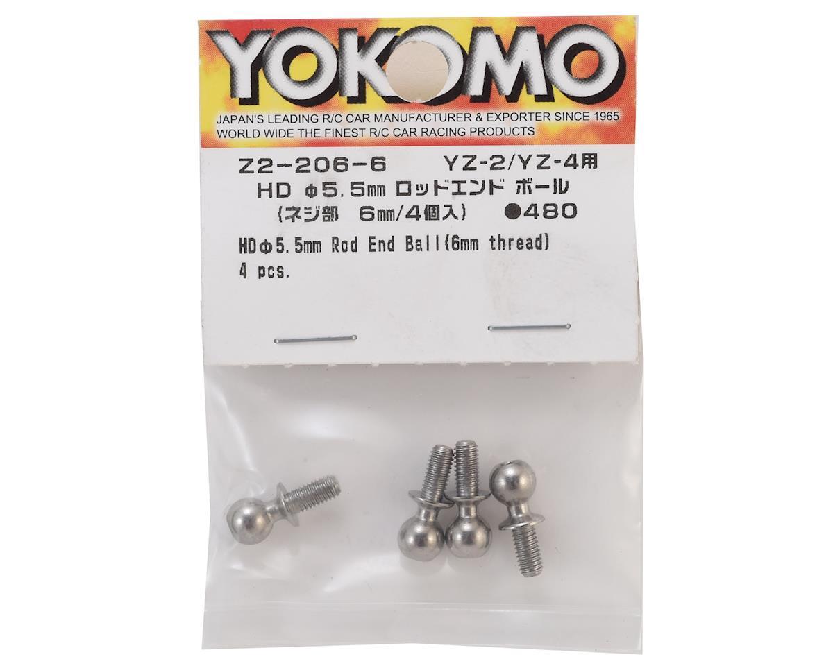 Yokomo 5.5mm Rod End Ball Stud (4) (6mm Long)