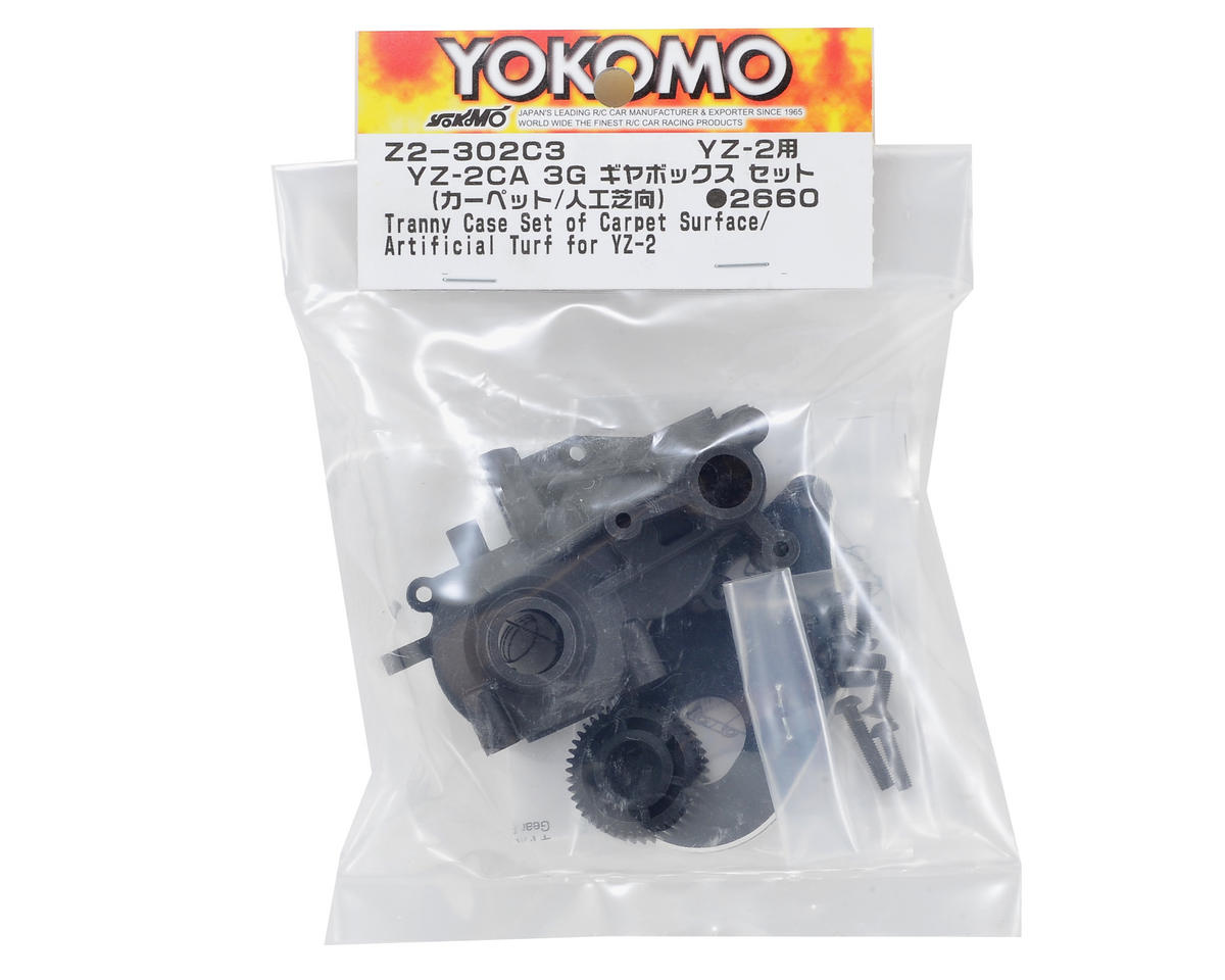 "Yokomo YZ-2 3-Gear ""Carpet"" Transmission Case Set"