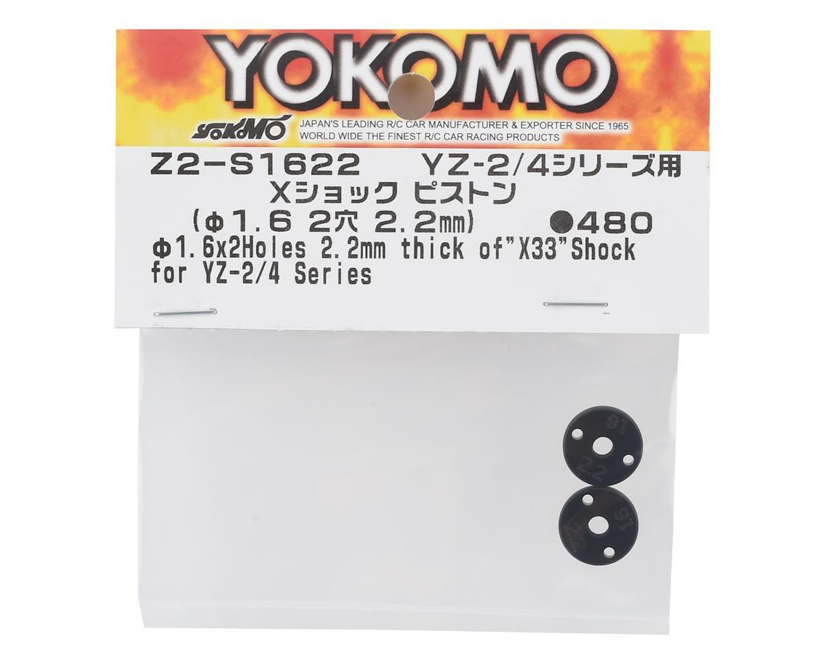 Yokomo X33 X 2.2mm Shock Piston Set (2) (2x1.6mm)