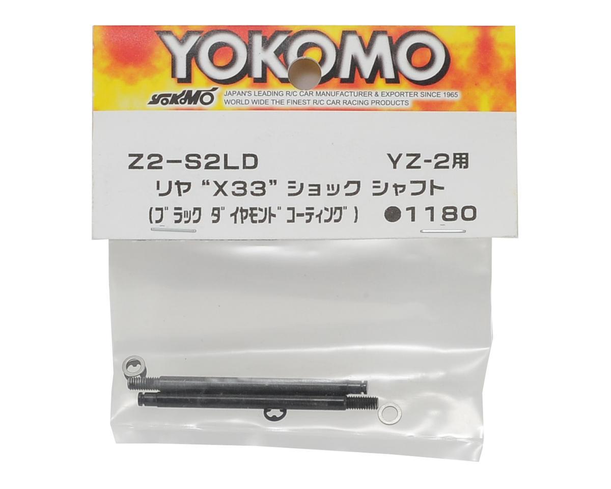 Yokomo Rear Shock Shaft (2) (Black Diamond Coating)