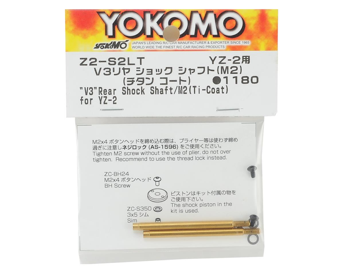 Yokomo V3 Titanium Coated Rear Shock Shaft (2)