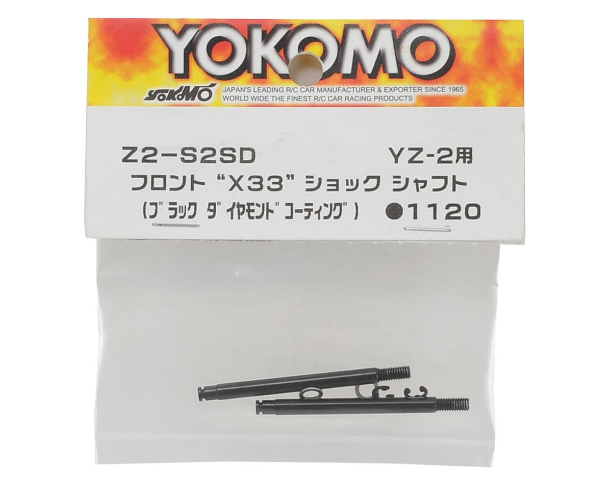 Yokomo Front Shock Shaft (2) (Black Diamond Coating)