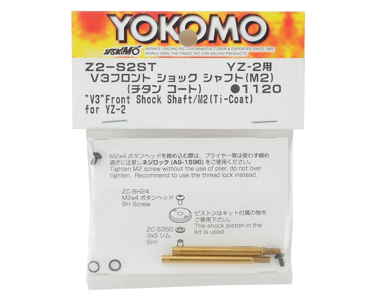 Yokomo V3 Titanium Coated Front Shock Shaft (2) (Screw Type)