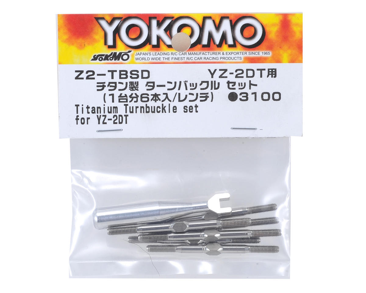 "Yokomo Titanium YZ-2 ""Dirt"" Turnbuckle Set (6)"