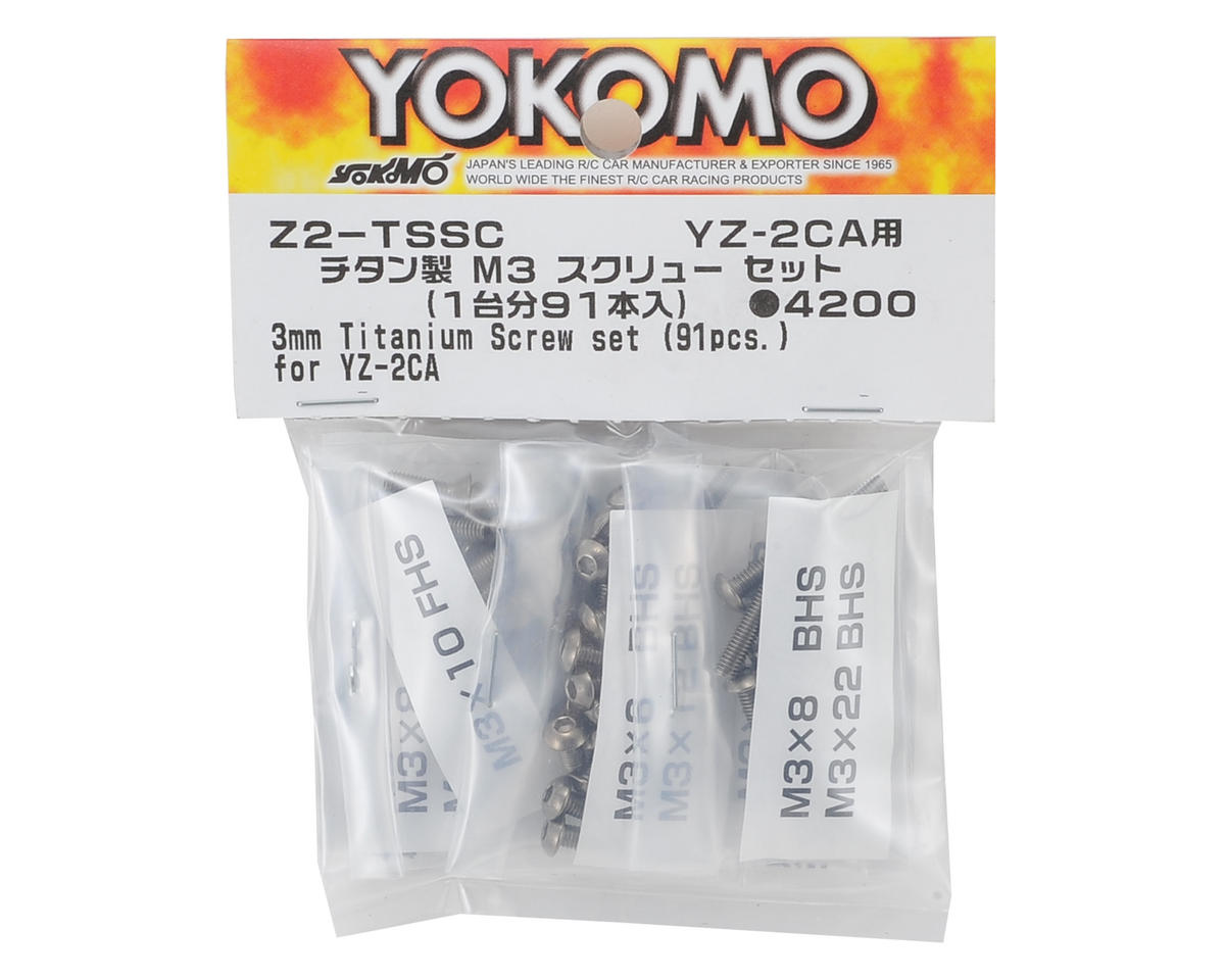 Yokomo M3 Titanium YZ-2 Carpet Screw Set (91 Pieces)