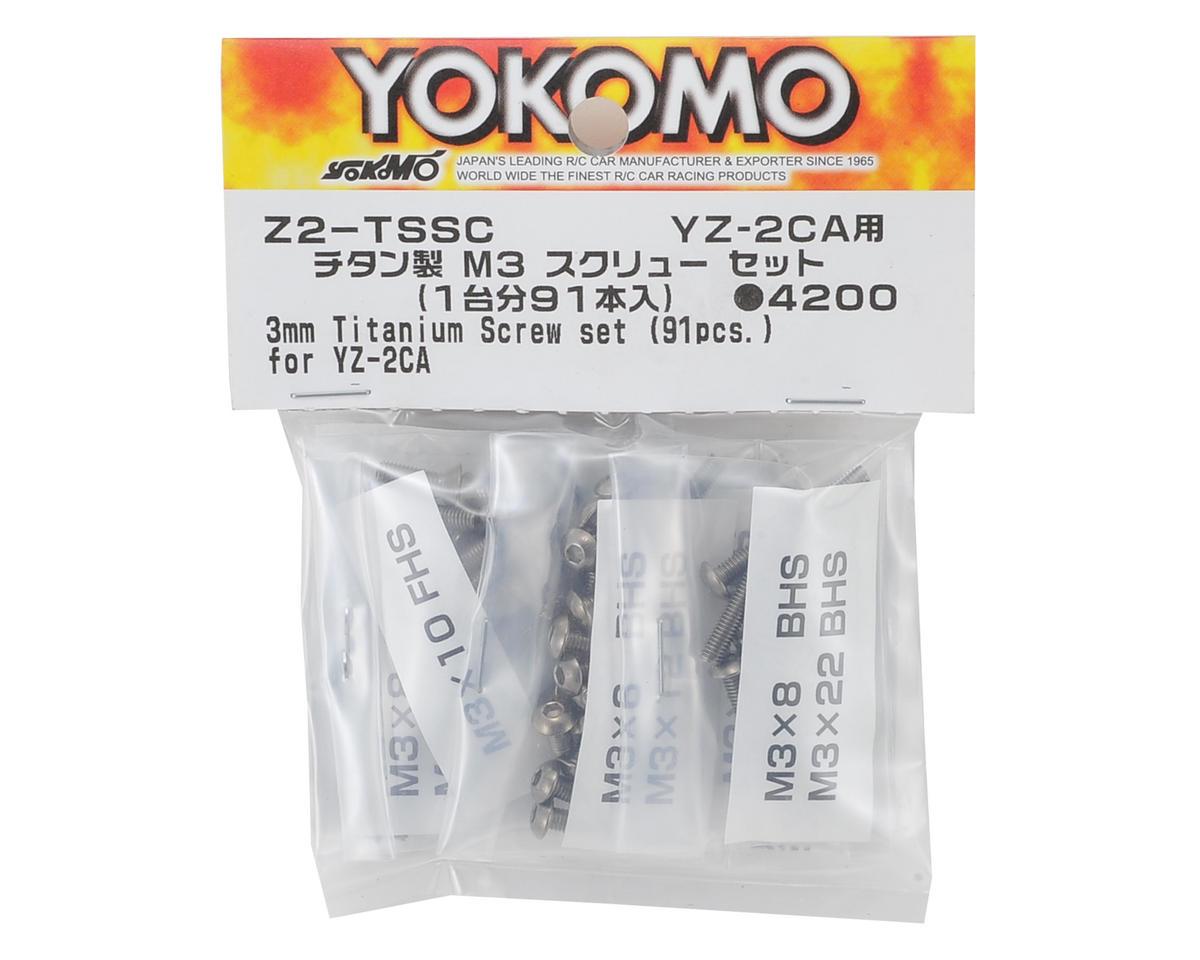 Yokomo M3 Titanium YZ-2 Carpet Screw Set (91 Pieces)