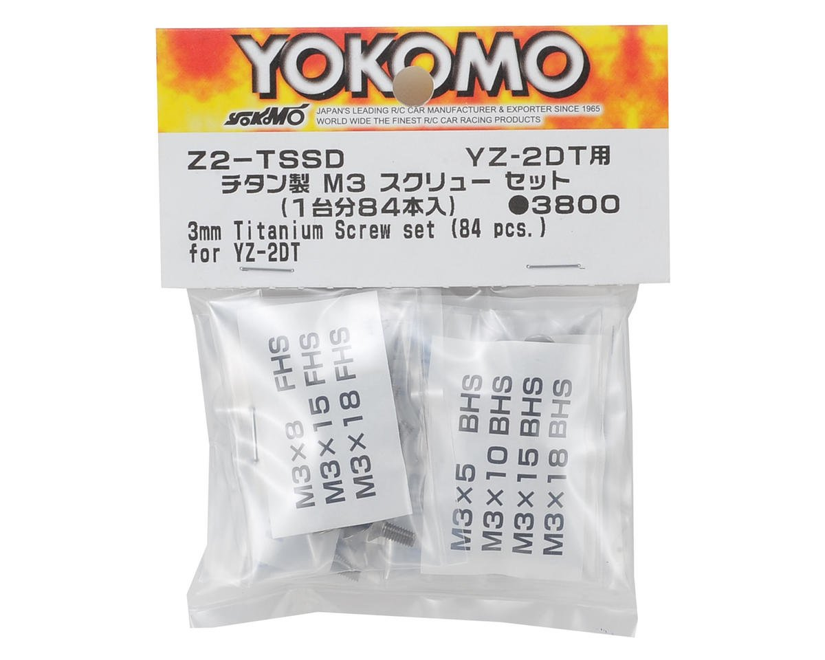 Yokomo M3 Titanium YZ-2 Dirt Screw Set (84 Pieces)