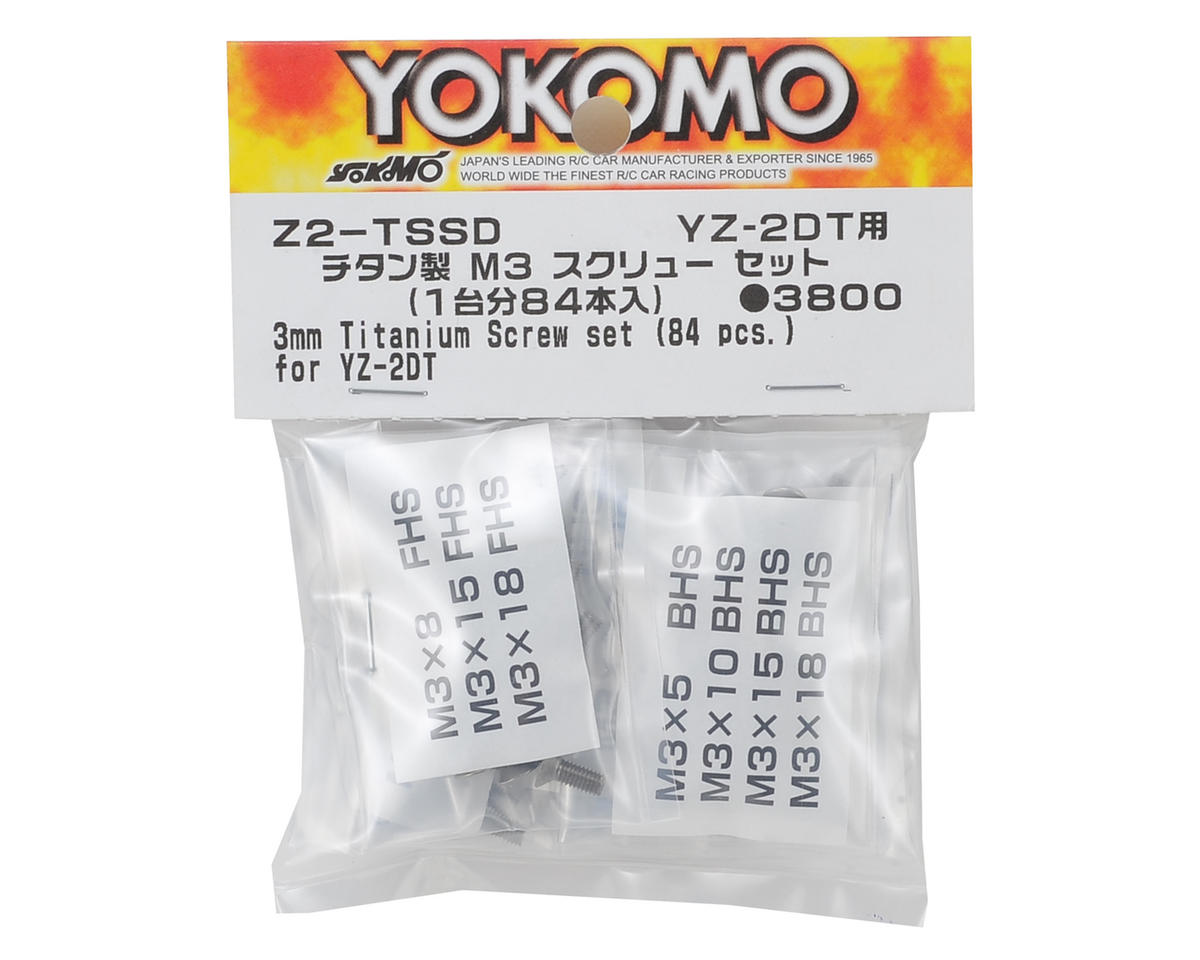 M3 Titanium YZ-2 Dirt Screw Set (84 Pieces) by Yokomo