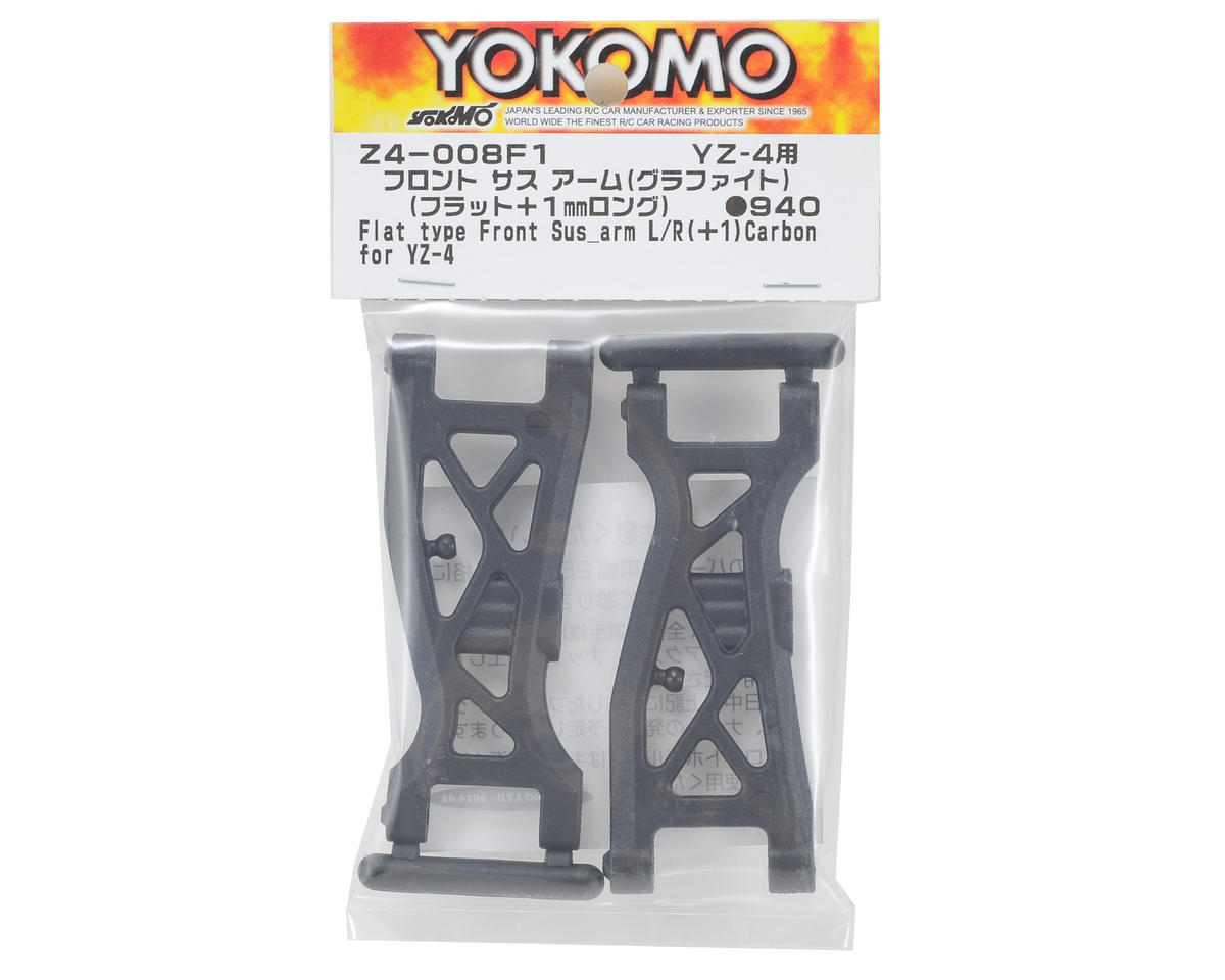 Yokomo YZ-4 Graphite F1 Flat Front Arm (+1mm)