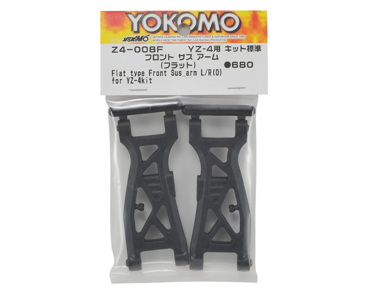 Yokomo YZ-4 Front Suspension Arm Set (Flat)