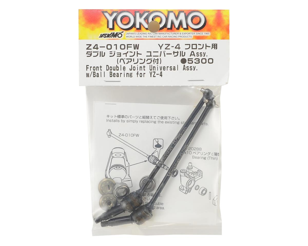 Yokomo YZ-4 Front Double Joint Universal Driveshaft w/Bearings (2)