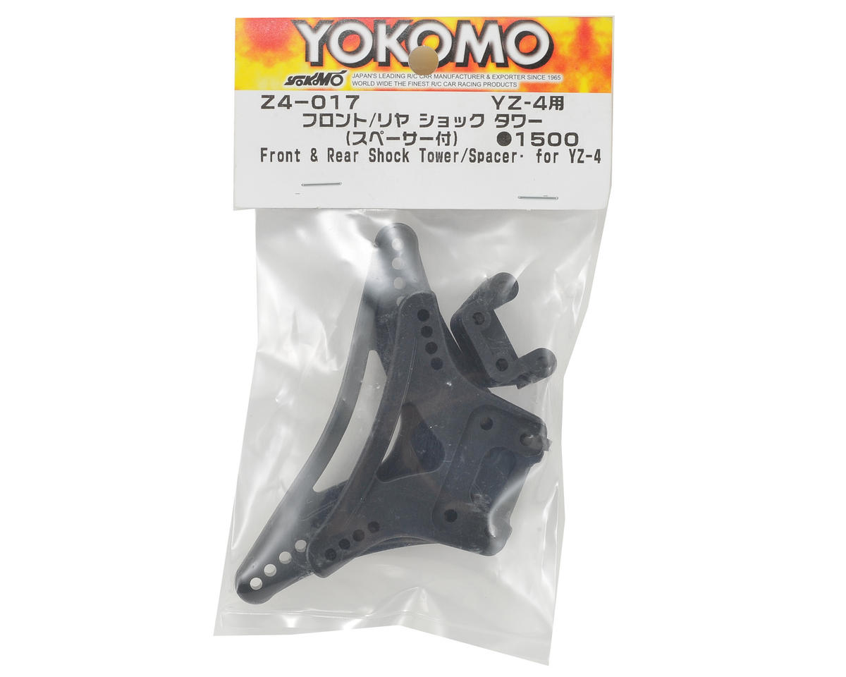Yokomo YZ-4 Front/Rear Shock Tower Set w/Rear Spacer