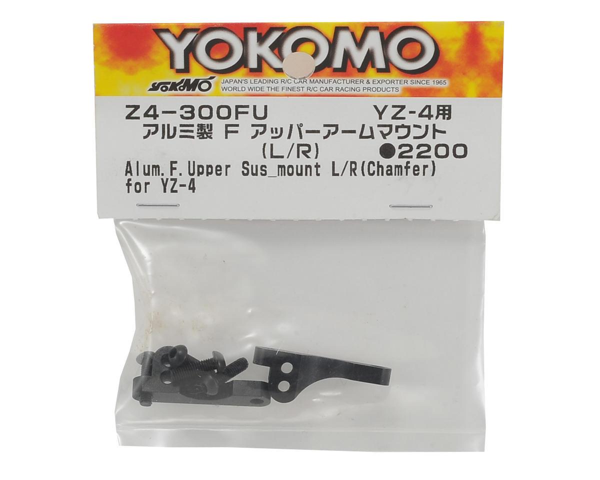 Yokomo Aluminum Front Upper Camber Mount (Black) (2)