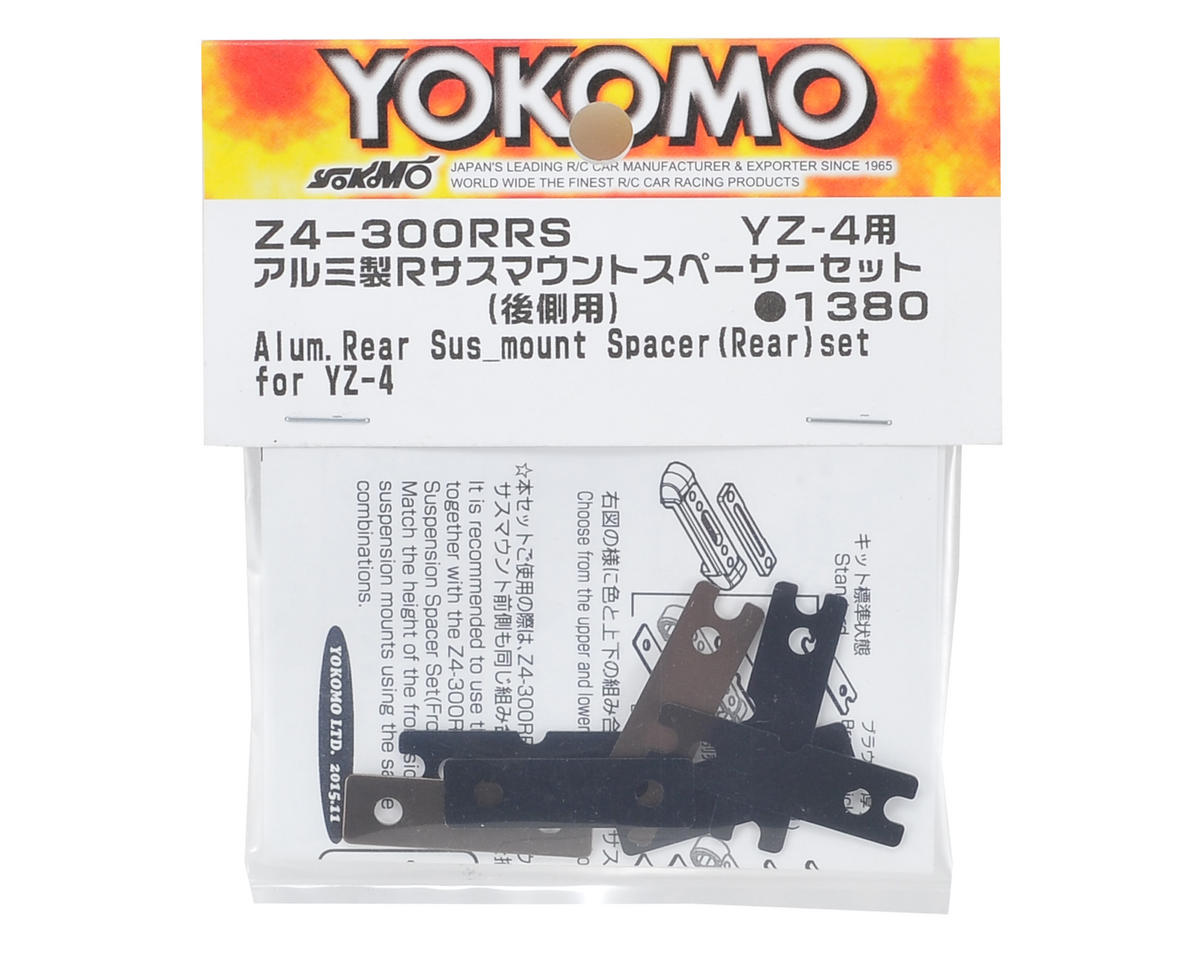 Yokomo YZ-4 Aluminum Rear Suspension Mount Spacer (Rear Side)