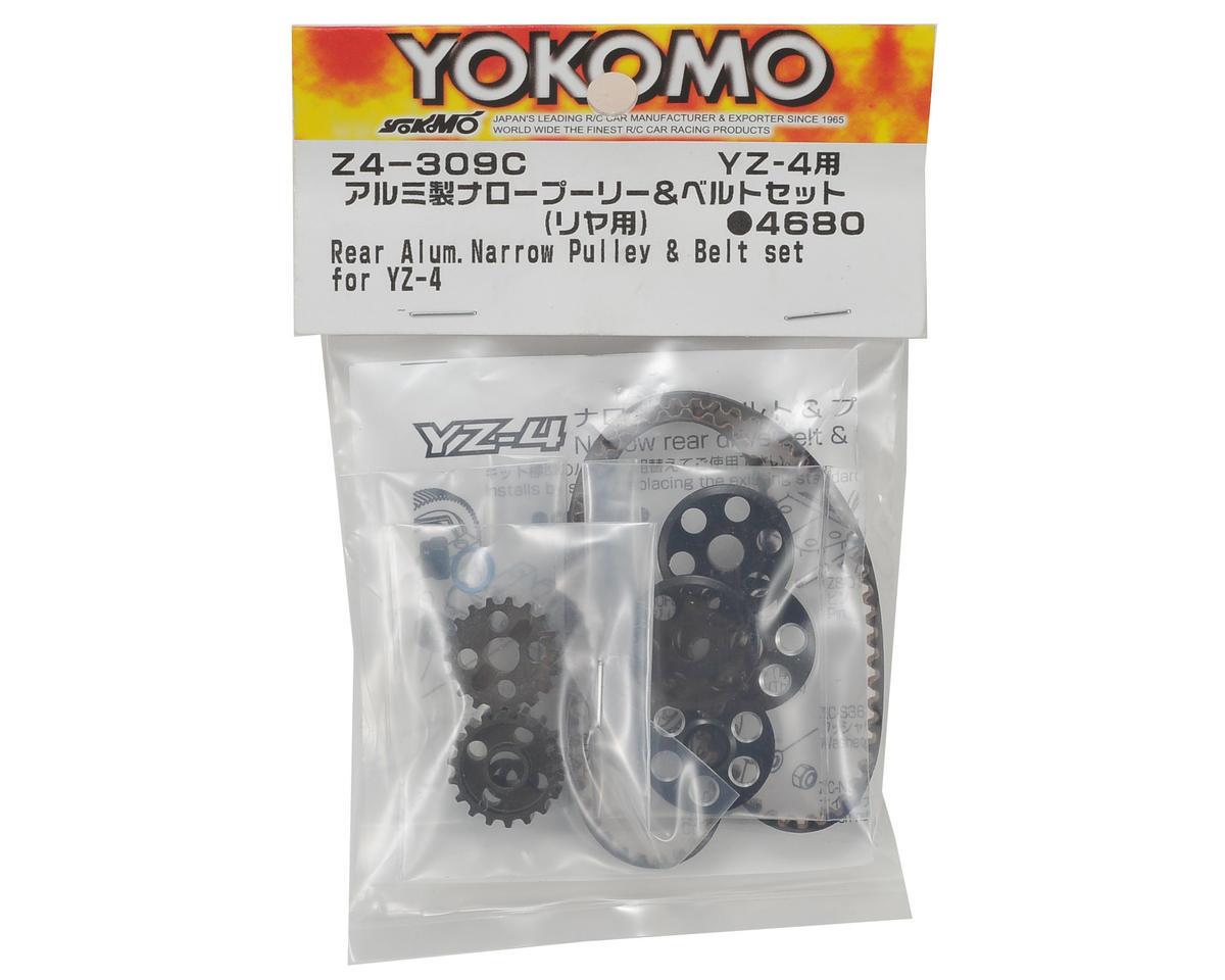 Yokomo YZ-4 Aluminum Narrow Rear Pulley & Belt Set