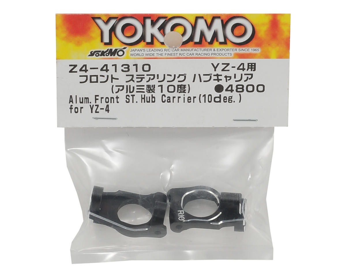 Aluminum Front Steering Hub Carrier (Black) (2) (10°) by Yokomo