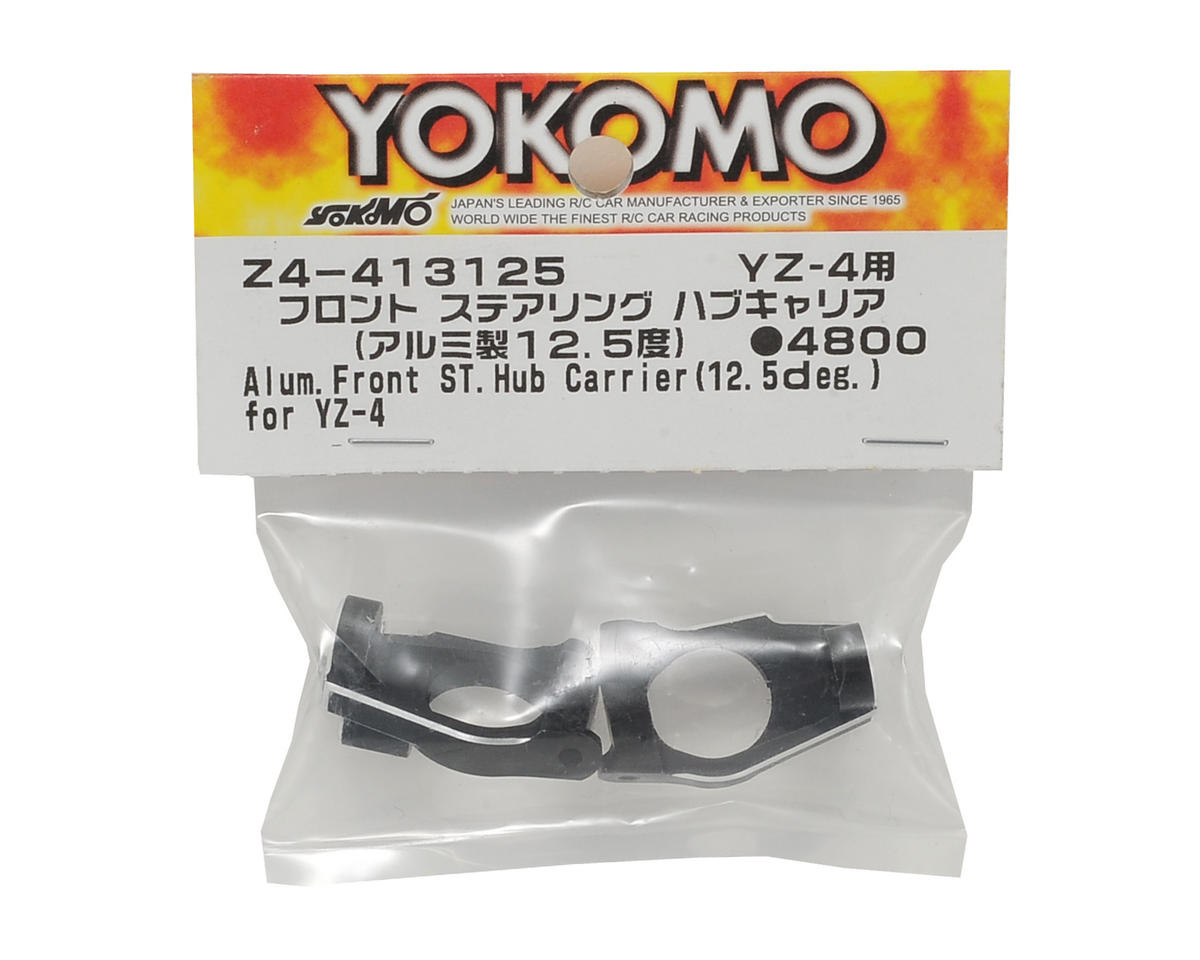 Yokomo Aluminum Front Steering Hub Carrier (Black) (2) (12.5°)