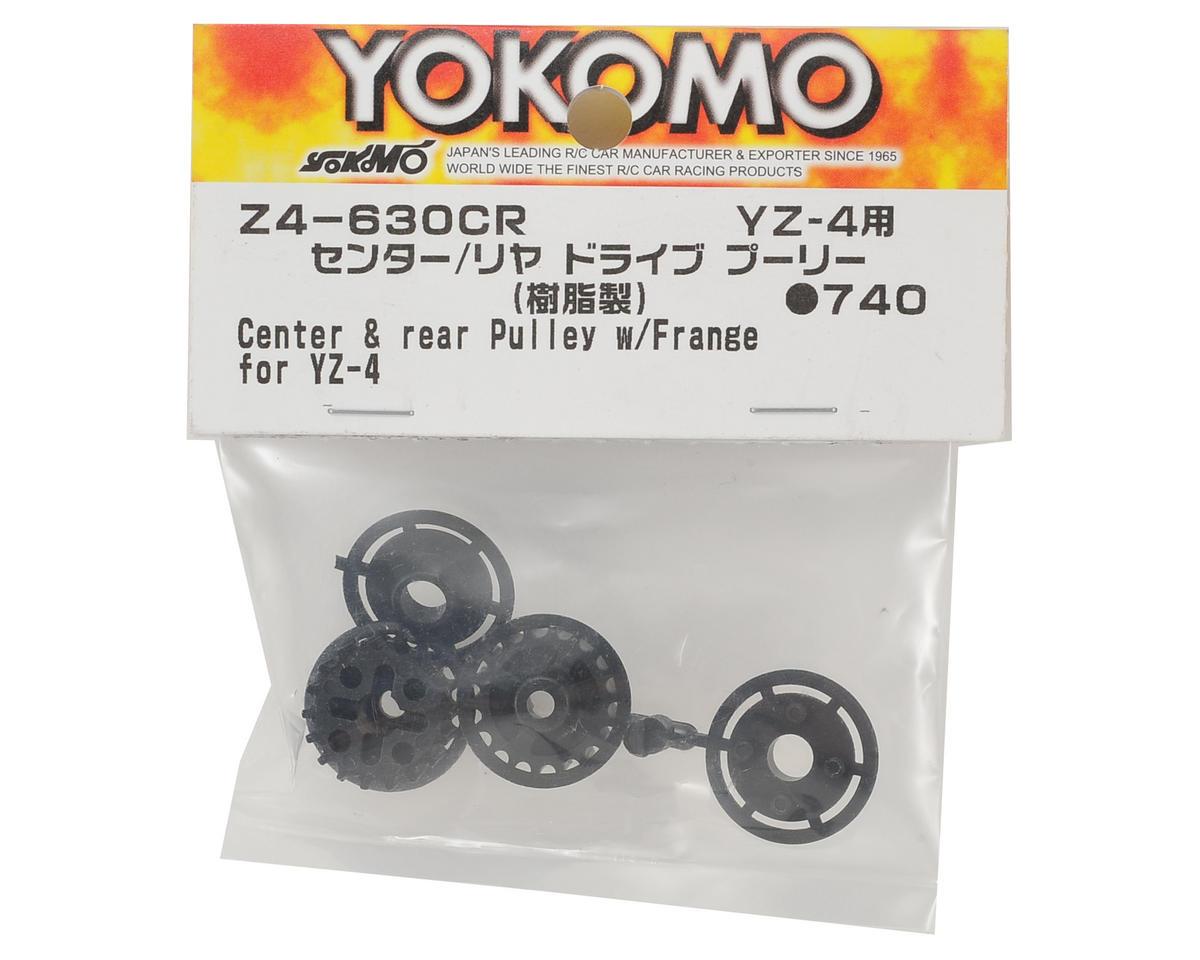 Yokomo Center & Rear Pulley w/Flange