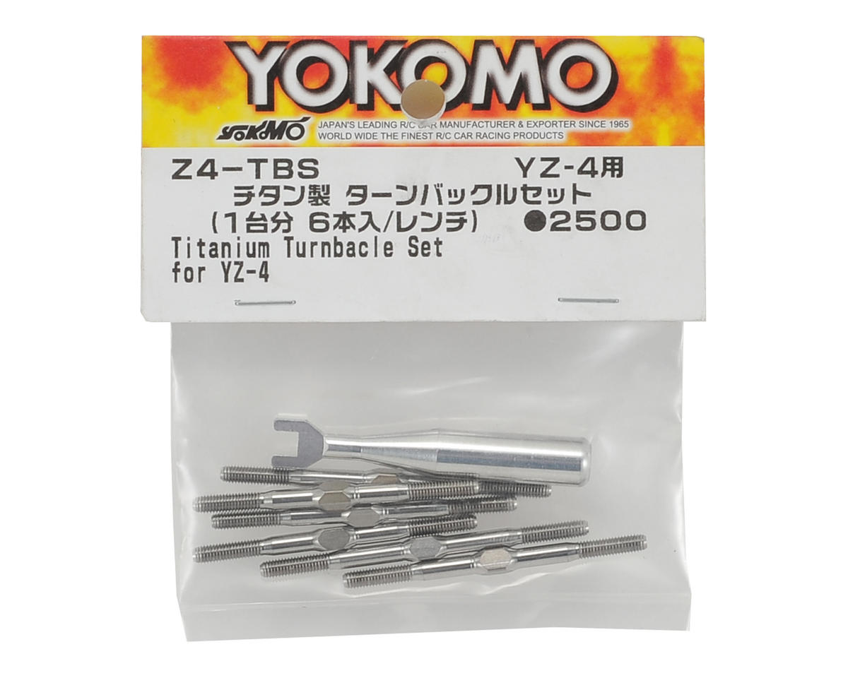 Yokomo YZ-4 Titanium Turnbuckle Set