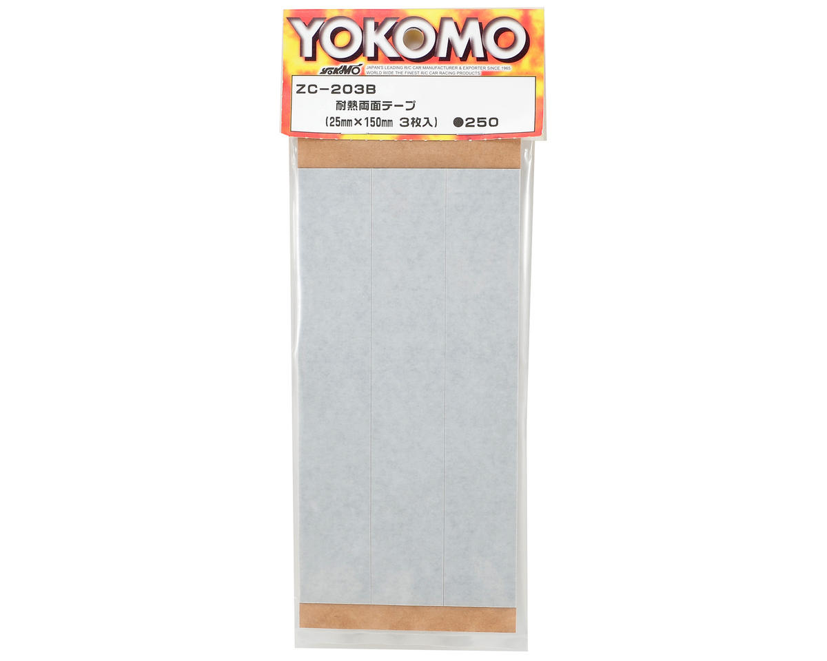 Yokomo Heat-Resistant Double-Stick Tape (3) (25x150mm)