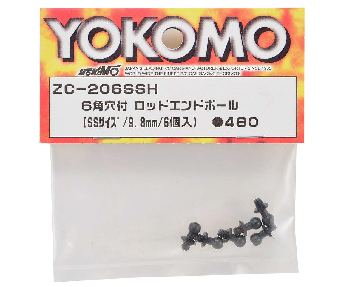 Yokomo 9.8mm Socket Head Ball Stud Set (6) (Size SS)