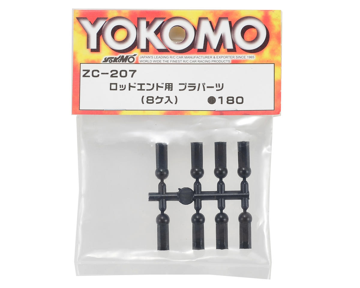 Plastic Rod End Set (8) by Yokomo