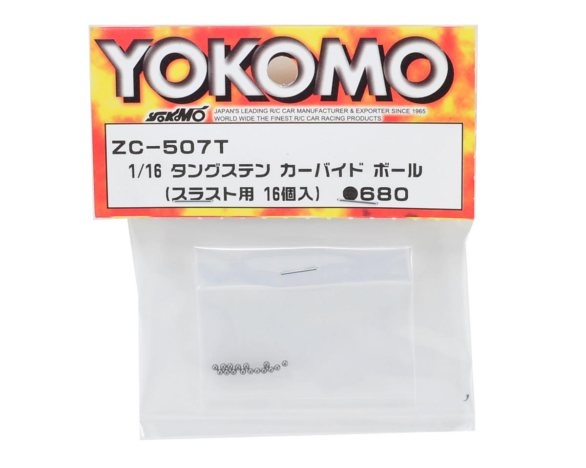 Yokomo 1/16 Tungsten Carbide Thrust Ball (16)