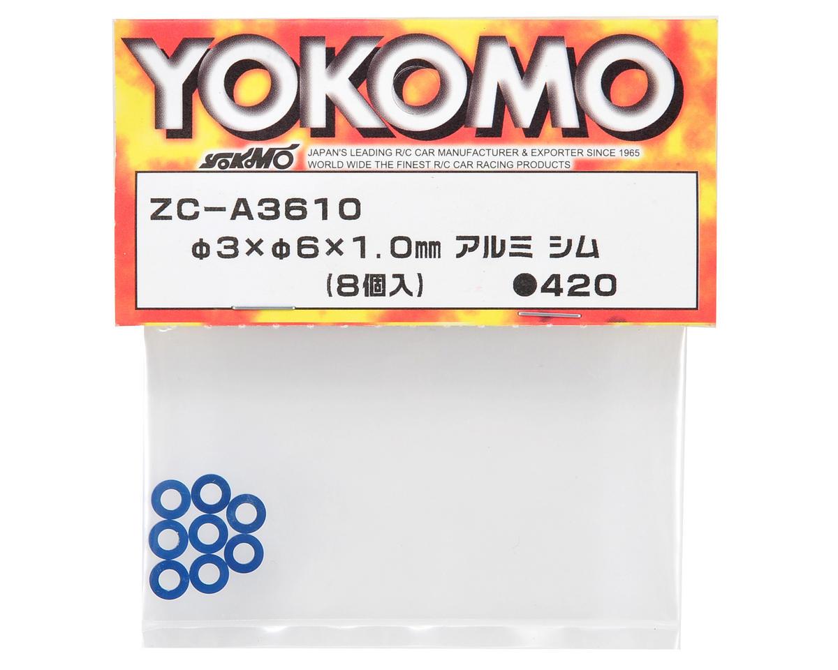 Yokomo 3x6x1.0mm Aluminum Shim (8)