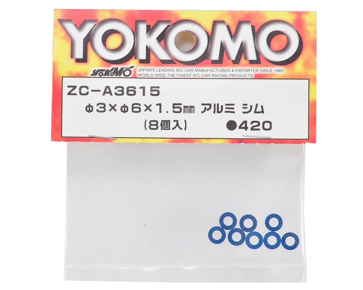 Yokomo 3x6x1.5mm Aluminum Shim (8)