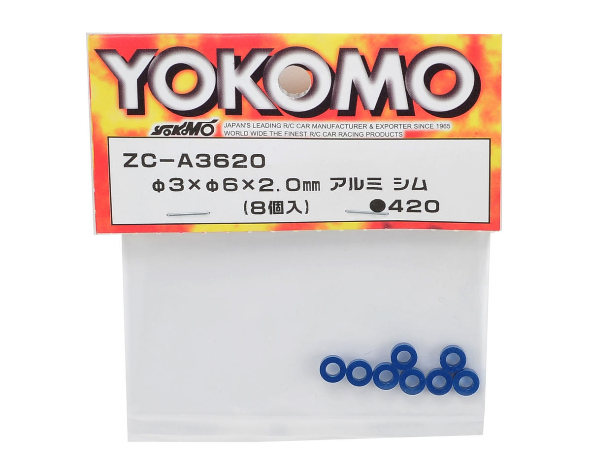 Yokomo 3x6x2.0mm Aluminum Shim (8)