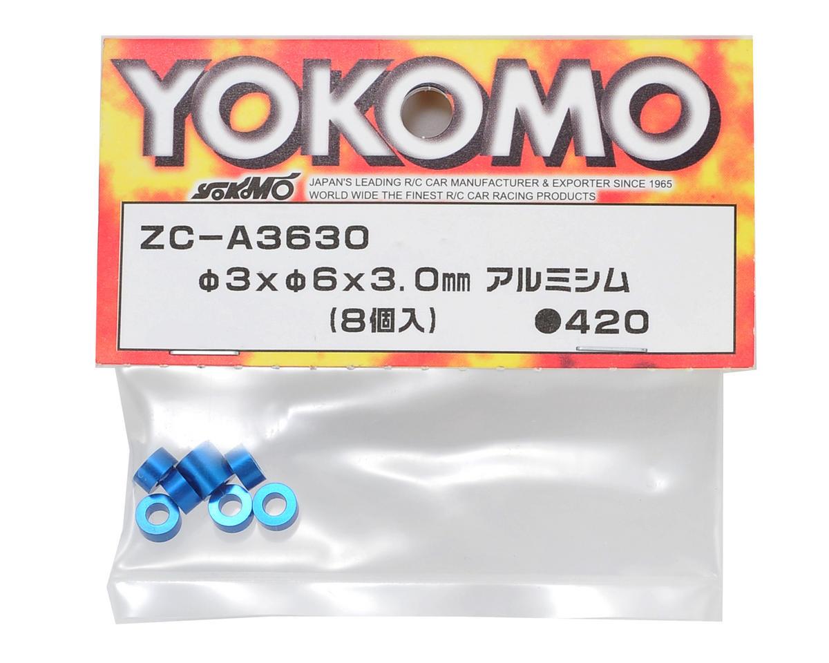 Yokomo 3x6x3.0mm Aluminum Shim (Blue) (8)