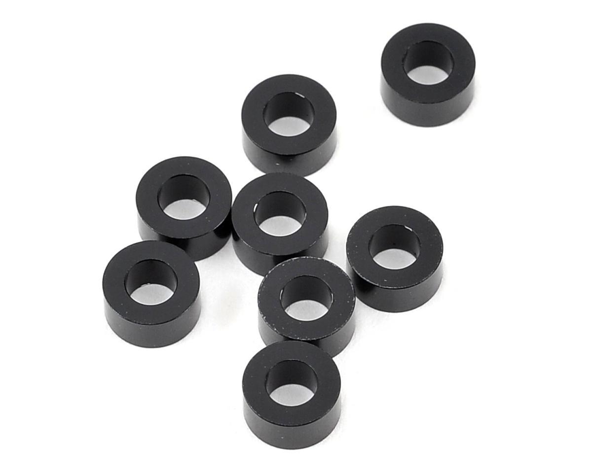 Yokomo 3x6x3.0mm Aluminum Shim (Black) (8)