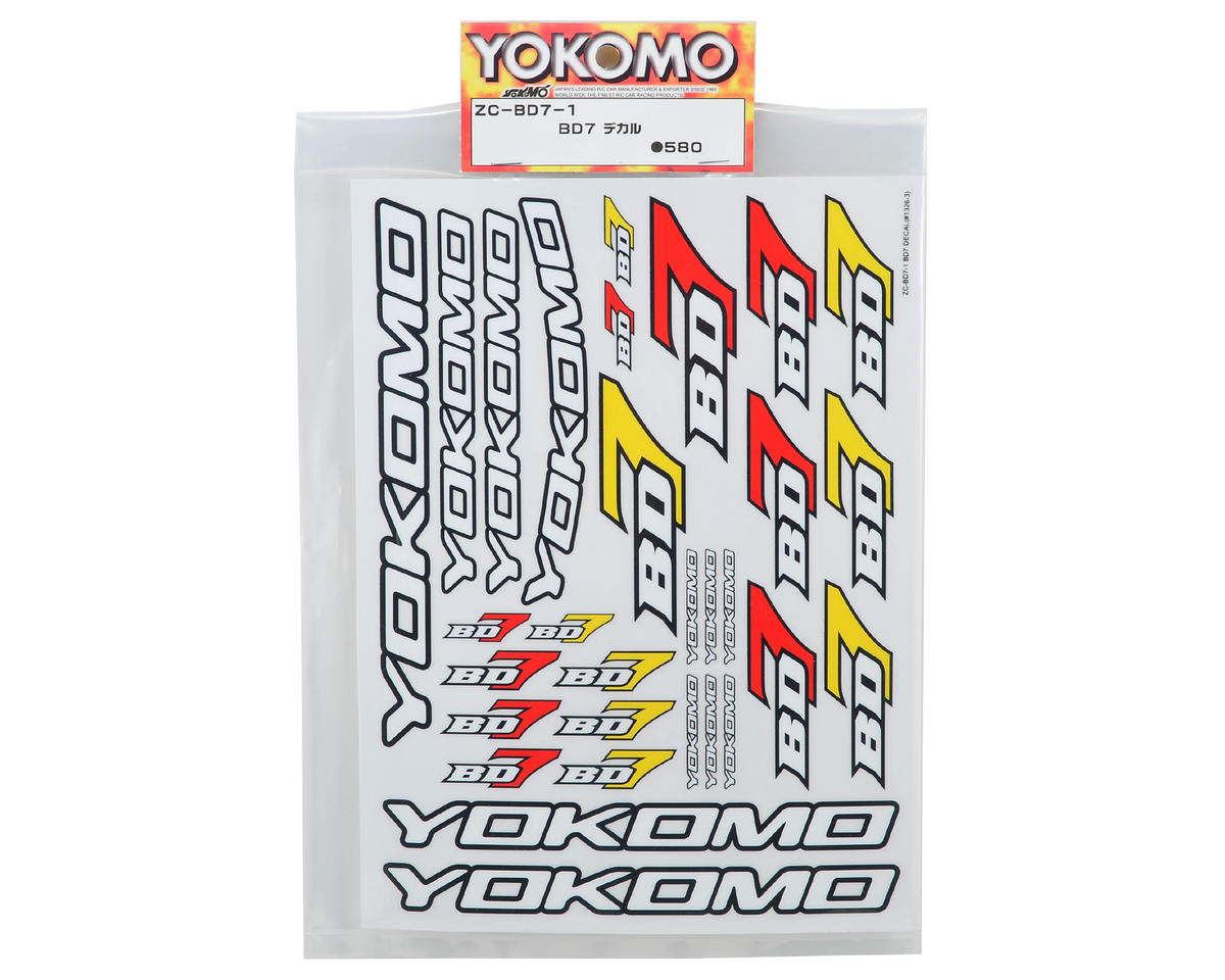 Yokomo BD7 Decal Sheet